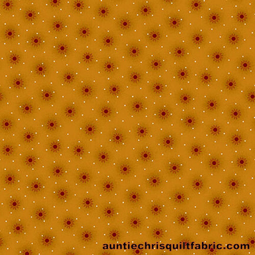 Cotton Quilt Fabric Far Horizons Small Star Bursts Golden - product images  of