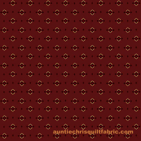 Cotton,Quilt,Fabric,Esters,Heirloom,Shirtings,Dotted,Diamonds,Red,Kim,Diehl,,quilt backing, dresses, quilt fabric,cotton material,auntie chris quilt,sewing,crafts,quilting,online fabric,sale fabric