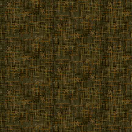 Cotton Quilt Fabric Best of Days Star Texture Green Janet Rae Nesbitt - product images  of