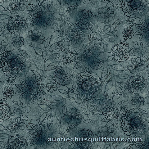Cotton,Quilt,Fabric,Best,of,Days,Wall,Flower,Blue,Janet,Rae,Nesbitt,,quilt backing, dresses, quilt fabric,cotton material,auntie chris quilt,sewing,crafts,quilting,online fabric,sale fabric