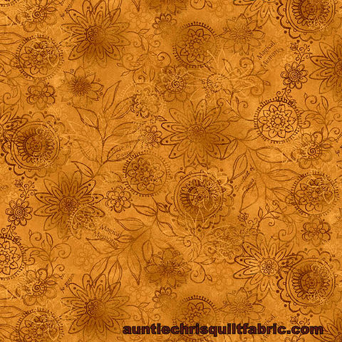 Cotton,Quilt,Fabric,Best,of,Days,Wall,Flower,Gold,Janet,Rae,Nesbitt,,quilt backing, dresses, quilt fabric,cotton material,auntie chris quilt,sewing,crafts,quilting,online fabric,sale fabric