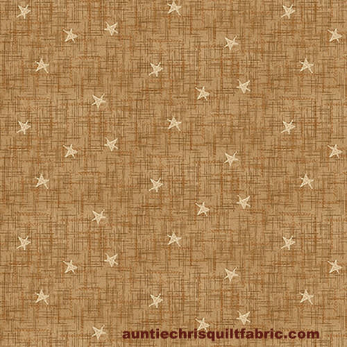 Cotton Quilt Fabric Best of Days Star Texture Cocoa Cream Janet Rae Nesbitt - product images  of
