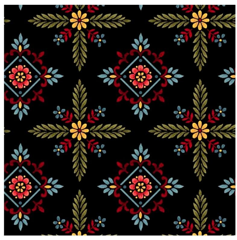 Cotton Quilt Fabric COUNT YOUR BLESSNGS Foulard Hexes - product images  of
