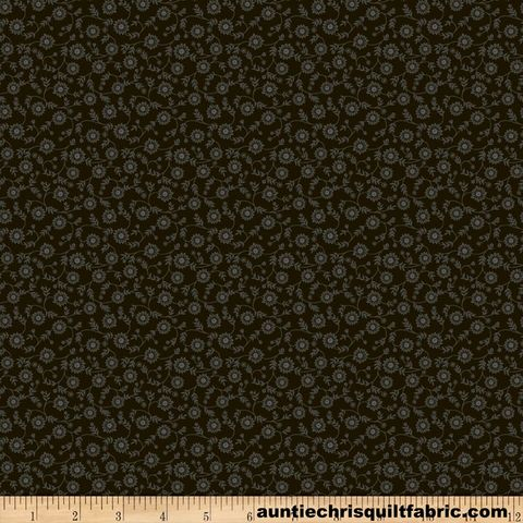Cotton,Quilt,Fabric,Ellen's,Florals,Black,Calico,,quilt backing, dresses, quilt fabric,cotton material,auntie chris quilt,sewing,crafts,quilting,online fabric,sale fabric