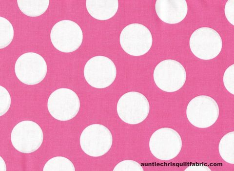 Cotton,Quilt,Fabric,Lt,Pink,White,Bigger,Dot,Polka,Dots,1,1/2,dot,,quilt backing, dresses, quilt fabric,cotton material,auntie chris quilt,sewing,crafts,quilting,online fabric,sale fabric
