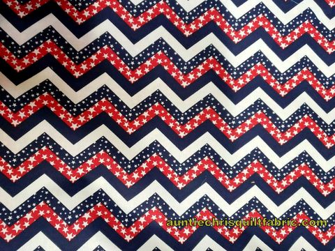 Cotton,Quilt,Fabric,Patriotic,USA,Made,Chevron,Red,White,Blue,,quilt backing, dresses, quilt fabric,cotton material,auntie chris quilt,sewing,crafts,quilting,online fabric,sale fabric