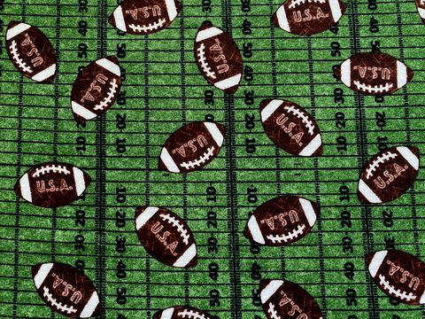 Cotton,Quilt,Fabric,Flannel,Footballs,on,Field,Sports,,quilt backing, dresses, quilt fabric,cotton material,auntie chris quilt,sewing,crafts,quilting,online fabric,sale fabric