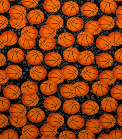 Cotton,Quilt,Fabric,Flannel,Slam,Dunk,Basketballs,Sports,,quilt backing, dresses, quilt fabric,cotton material,auntie chris quilt,sewing,crafts,quilting,online fabric,sale fabric