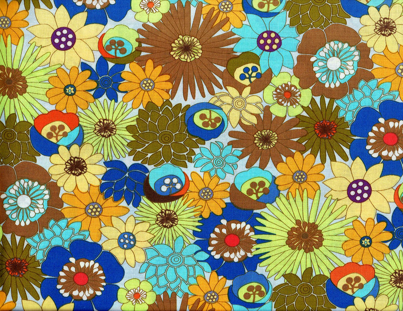 Cotton Quilt Fabric Gardenia Modern Fabric Floral Multi Bright  - product images  of