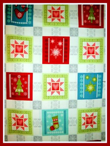 Cotton,Quilt,Fabric,Panel,O,Christmas,Tree,Holiday,Blocks,Trees,Snowflakes,quilt fabric,cotton material,auntie chris quilt,sewing,crafts,quilting,online fabric,sale fabric