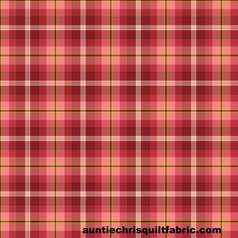 Cotton,Quilt,Fabric,Live,Love,Meow,Red,Pink,Plaid,Henry,Glass,,quilt backing, dresses, quilt fabric,cotton material,auntie chris quilt,sewing,crafts,quilting,online fabric,sale fabric