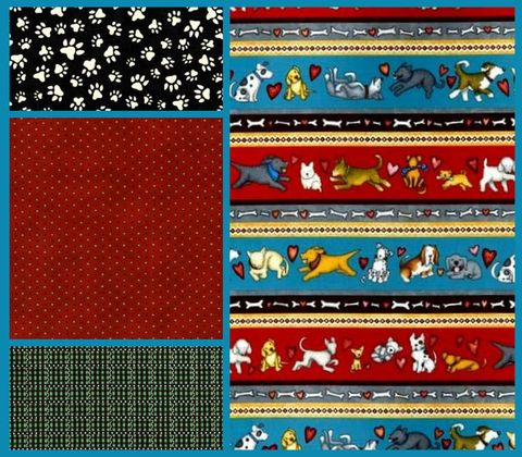 Quick,Cuts,Cotton,Fabric,Love,And,A,Dog,Coordinated,2,Yard,Medley,,quilt backing, dresses, quilt fabric,cotton material,auntie chris quilt,sewing,crafts,quilting,online fabric,sale fabric