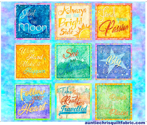 Cotton,Quilt,Fabric,Panel,FABRICS,DREAM,BIG,INSPIRATIONALS,Quotes,36,,quilt backing, dresses, quilt fabric,cotton material,auntie chris quilt,sewing,crafts,quilting,online fabric,sale fabric
