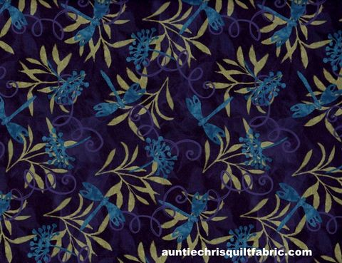 Cotton,Quilt,Fabric,Susan,Winget,Jasmine,Dragonfly,Purple,,quilt backing, dresses, quilt fabric,cotton material,auntie chris quilt,sewing,crafts,quilting,online fabric,sale fabric