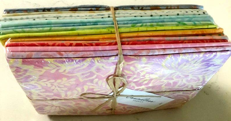 Boundless Batiks Pastel Sunset 20 Fat Quarter Collection - product images  of