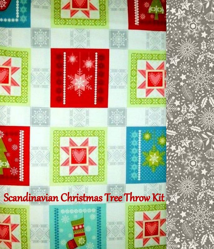Easy Quilt In A Day Everyday Throw Kit Scandinavian Christmas 51