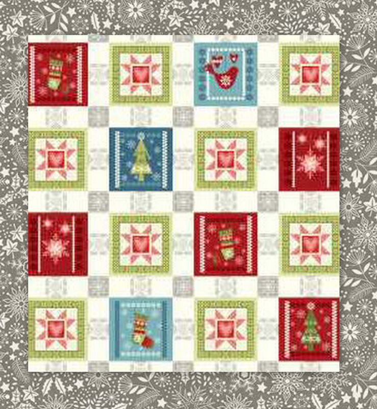 "Easy Quilt In A Day Everyday Throw Kit Scandinavian Christmas 51"" x 67"" - product images  of"