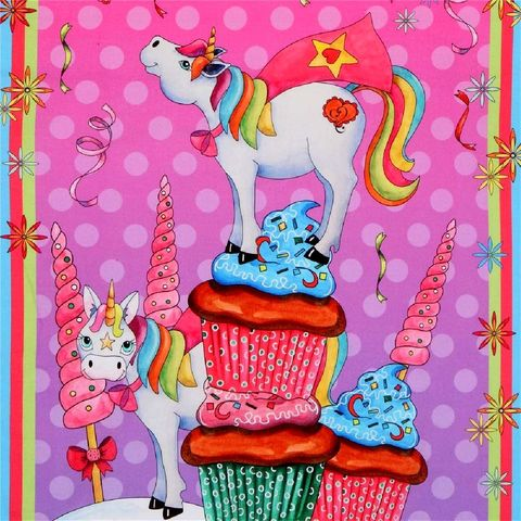 Cotton,Quilt,Fabric,Panel,Party,Like,a,Unicorn,Pink,,quilt backing, dresses, quilt fabric,cotton material,auntie chris quilt,sewing,crafts,quilting,online fabric,sale fabric