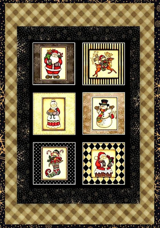 Easy Fabric Panel Quilt Kit Holly Jolly Snowman Christmas Kit  - product images  of