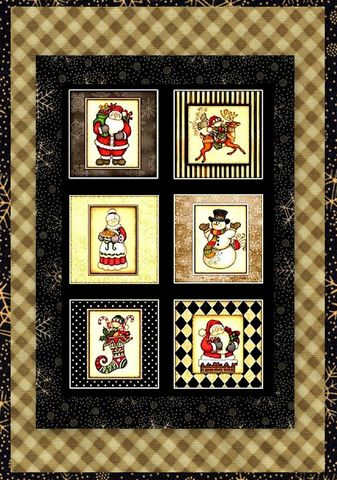 Easy,Fabric,Panel,Quilt,Kit,Holly,Jolly,Snowman,Christmas,kit,quilt fabric,cotton material,auntie chris quilt,sewing,crafts,quilting,online fabric,sale fabric