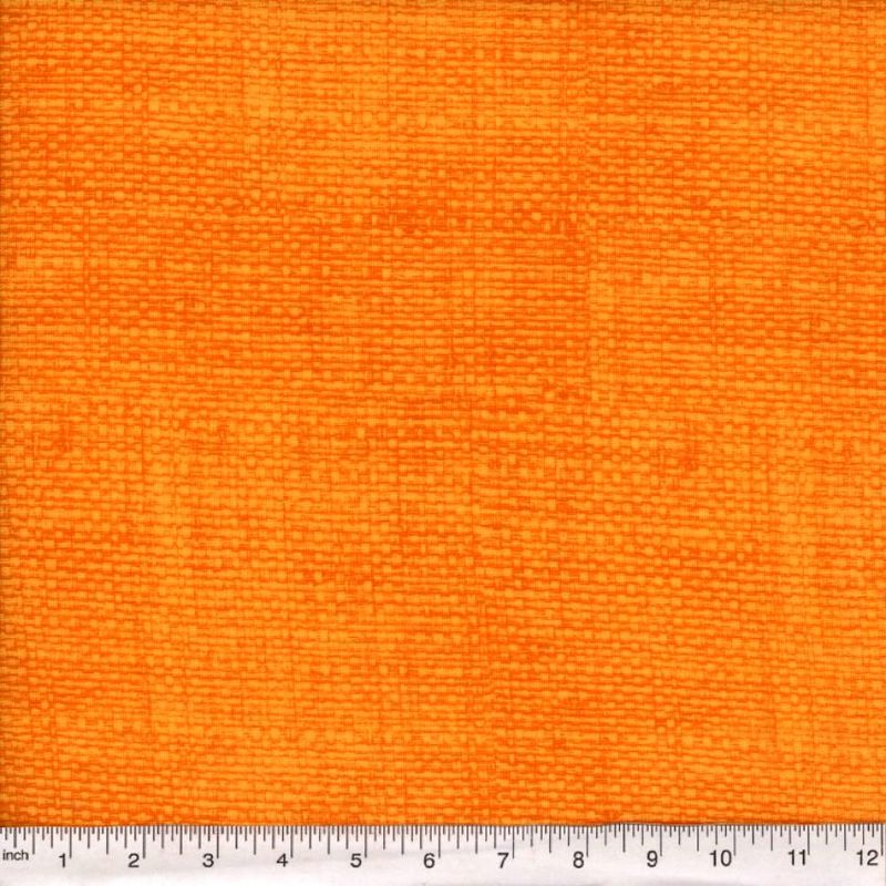 Cotton Quilt Fabric Faux Burlap Texture Blenders Harvest Orange - product image