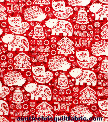 Cotton,Quilt,Fabric,Flannel,Winter,Joy,Alpine,Nordic,Holidays,Red,White,,quilt backing, dresses, quilt fabric,cotton material,auntie chris quilt,sewing,crafts,quilting,online fabric,sale fabric