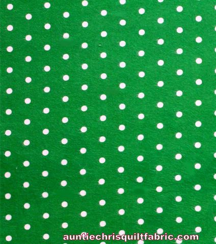 Cotton,Quilt,Fabric,Flannel,Green,White,Dots,Christmas,,quilt backing, dresses, quilt fabric,cotton material,auntie chris quilt,sewing,crafts,quilting,online fabric,sale fabric