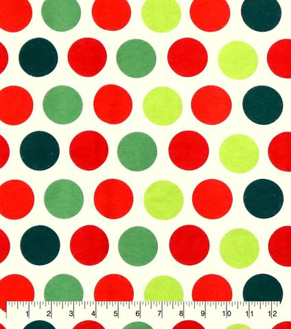 Cotton,Quilt,Fabric,Flannel,Christmas,Dots,Red,Green,White,,quilt backing, dresses, quilt fabric,cotton material,auntie chris quilt,sewing,crafts,quilting,online fabric,sale fabric