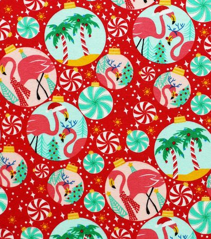 Cotton,Quilt,Fabric,Flannel,Tropical,Ornaments,Flamingo,Christmas,,quilt backing, dresses, quilt fabric,cotton material,auntie chris quilt,sewing,crafts,quilting,online fabric,sale fabric