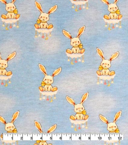 Cotton,Quilt,Fabric,Flannel,Cloud,Bunnies,Babies,Nursery,Blue,Multi,,quilt backing, dresses, quilt fabric,cotton material,auntie chris quilt,sewing,crafts,quilting,online fabric,sale fabric