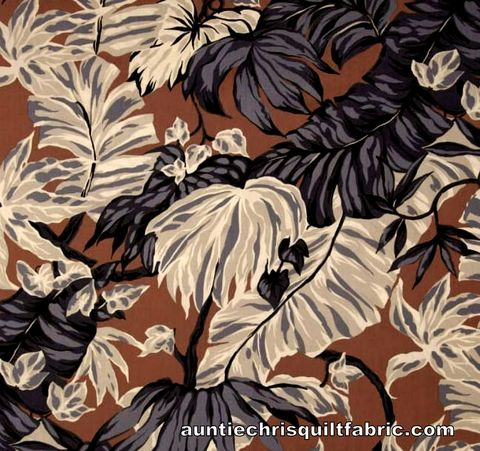 Cotton,Quilt,Fabric,Canopy,Cove,Hoffman,Exotic,Large,Floral,Brown,Multi,,quilt backing, dresses, quilt fabric,cotton material,auntie chris quilt,sewing,crafts,quilting,online fabric,sale fabric