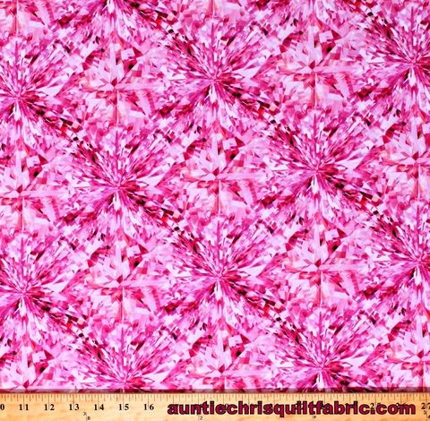 Cotton,Quilt,Fabric,SHINE,ON,Gemstone,Spectrum,Design,FACETS,Fuchsia,,quilt backing, dresses, quilt fabric,cotton material,auntie chris quilt,sewing,crafts,quilting,online fabric,sale fabric
