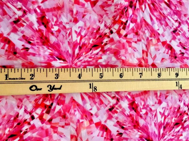 Cotton Quilt Fabric SHINE ON Gemstone Spectrum Design FACETS Fuchsia  - product images  of