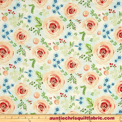 Cotton,Quilt,Fabric,Summer,Punch,Blooms,Hailey,Hoffman,White,Multi,,quilt backing, dresses, quilt fabric,cotton material,auntie chris quilt,sewing,crafts,quilting,online fabric,sale fabric