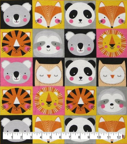 Cotton,Quilt,Fabric,Flannel,Safari,Animal,Faces,Multi,,quilt backing, dresses, quilt fabric,cotton material,auntie chris quilt,sewing,crafts,quilting,online fabric,sale fabric