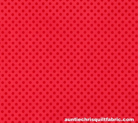 Cotton,Quilt,Fabric,Small,Dot,Red,Tone,On,Polka,Dots,Riley,Blake,,quilt backing, dresses, quilt fabric,cotton material,auntie chris quilt,sewing,crafts,quilting,online fabric,sale fabric