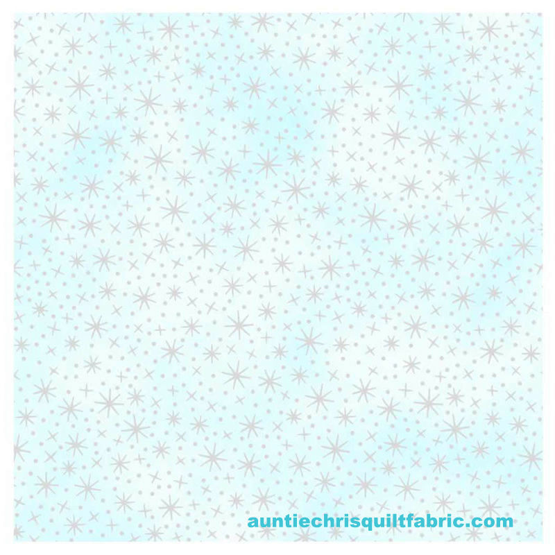 Cotton Quilt Fabric Tiny Stardust ANGELS AND FAIRIES Silver Metallic - product images  of