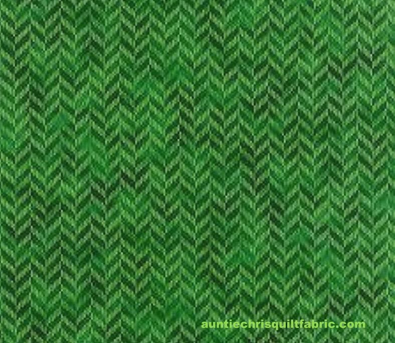 Cotton Quilt Fabric Hoffman Fabrics Zig and Zag Grass Green - product images  of