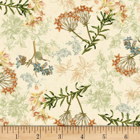 Cotton,Quilt,Fabric,Wind,Apple,Oak,Avenue,Floral,Cream,Multi,,quilt backing, dresses, quilt fabric,cotton material,auntie chris quilt,sewing,crafts,quilting,online fabric,sale fabric