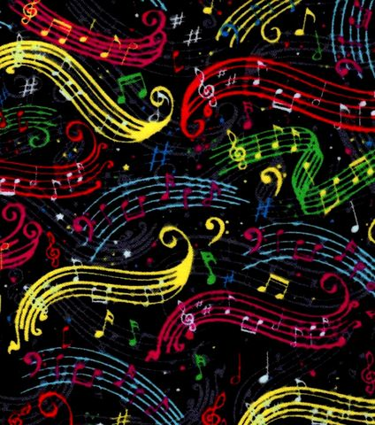 Cotton,Quilt,Fabric,Flannel,Rustic,Colorful,Music,Notes,Black,Multi,,quilt backing, dresses, quilt fabric,cotton material,auntie chris quilt,sewing,crafts,quilting,online fabric,sale fabric