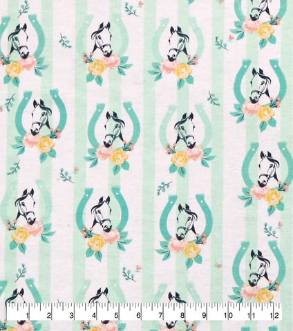 Cotton,Quilt,Fabric,Flannel,Floral,Horseshoes,White,Multi,,quilt backing, dresses, quilt fabric,cotton material,auntie chris quilt,sewing,crafts,quilting,online fabric,sale fabric