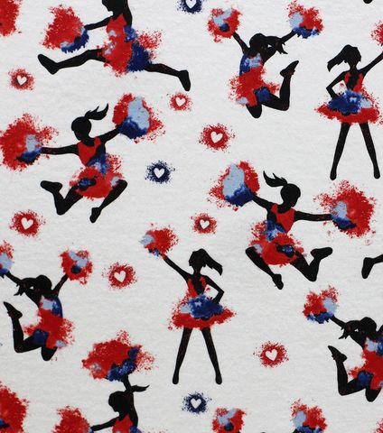 Cotton,Quilt,Fabric,Flannel,Red,White,Blue,Cheerleaders,Cheer,Multi,,quilt backing, dresses, quilt fabric,cotton material,auntie chris quilt,sewing,crafts,quilting,online fabric,sale fabric