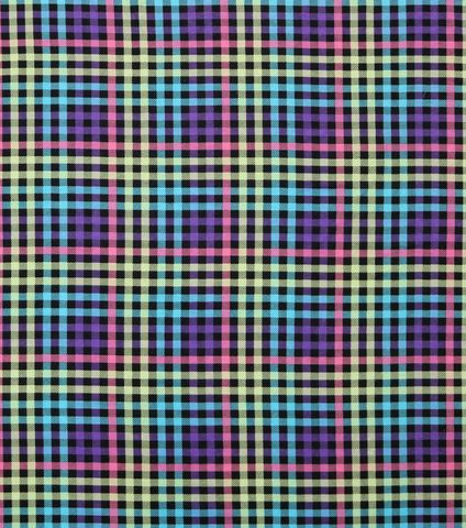 Cotton,Quilt,Fabric,Flannel,Neon,Plaid,On,Black,Multi,,quilt backing, dresses, quilt fabric,cotton material,auntie chris quilt,sewing,crafts,quilting,online fabric,sale fabric