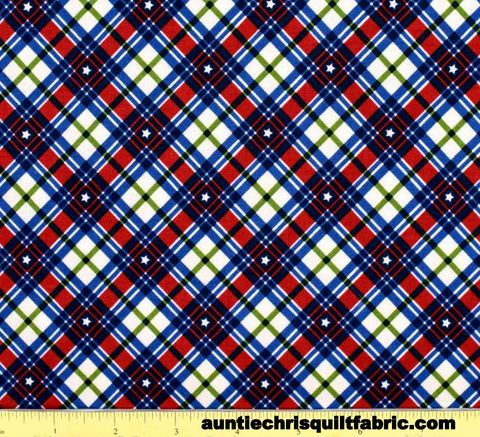 Cotton,Quilt,Fabric,KICK,OFF,YOUR,BOOTS,PLAID,MULTI,,quilt backing, dresses, quilt fabric,cotton material,auntie chris quilt,sewing,crafts,quilting,online fabric,sale fabric