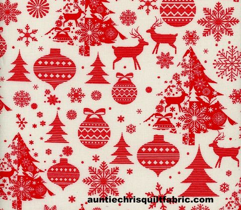 Cotton,Quilt,Fabric,Scandi,Christmas,Cheer,Red,White,,quilt backing, dresses, quilt fabric,cotton material,auntie chris quilt,sewing,crafts,quilting,online fabric,sale fabric