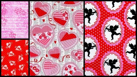 Quick,Cuts,Cotton,Quilt,Fabric,Love,Struck,Valentine,Coordinated,2,Yard,Medley,,quilt backing, dresses, quilt fabric,cotton material,auntie chris quilt,sewing,crafts,quilting,online fabric,sale fabric