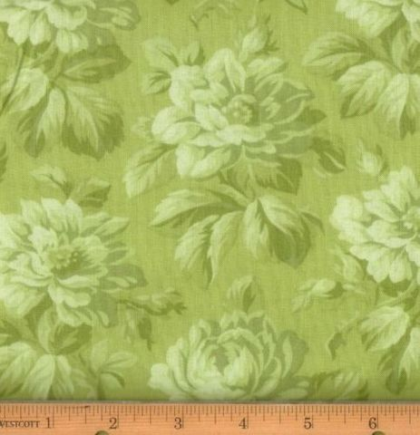 Cotton,Quilt,Fabric,Incarnadine,Green,Floral,Tone,On,RJR,,quilt backing, dresses, quilt fabric,cotton material,auntie chris quilt,sewing,crafts,quilting,online fabric,sale fabric