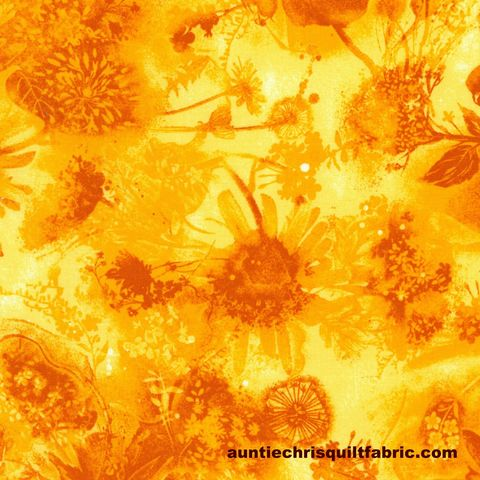 Cotton,Quilt,Fabric,Reverie,Sun,Tonal,Floral,Sunflower,Yellow,Tone,On,,quilt backing, dresses, quilt fabric,cotton material,auntie chris quilt,sewing,crafts,quilting,online fabric,sale fabric