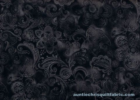 Cotton,Quilt,Fabric,Floral,Crown,Gray,Black,Swirl,Tonal,,quilt backing, dresses, quilt fabric,cotton material,auntie chris quilt,sewing,crafts,quilting,online fabric,sale fabric