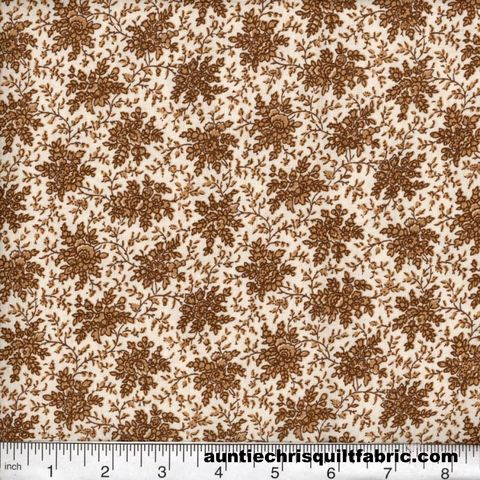 Cotton,Quilt,Fabric,Quilters,Calico,Flowers,328,Cream,Gold,Floral,,quilt backing, dresses, quilt fabric,cotton material,auntie chris quilt,sewing,crafts,quilting,online fabric,sale fabric